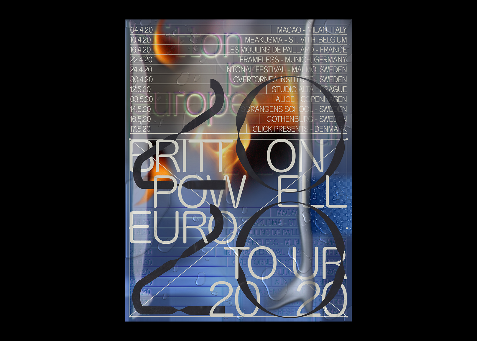 Britton Powell – Euro Tour Poster